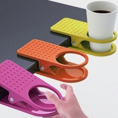 4 Colorful Clip On Table Cup Holders #productdesign