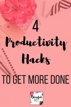 4 Productivity Hacks to Get MORE done than EVER! - Nicole Culver