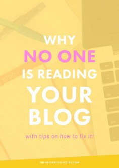 5 Reasons Why No One's Reading Your Blog (And How to Fix Them) | Having trouble growing your audience? I SO get that. After  years of blogging, these are my five best tips and reasons why your blog might not be growing.