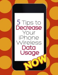 5 Tips to Decrease Your iPhone Wireless Data Usage