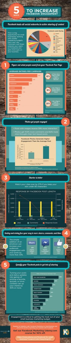 5 Tips to increase Facebook Engagement #socialmedia