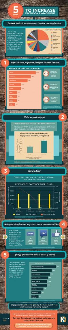 5 Tips to increase Facebook Engagement #socialmedia