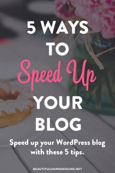 5 Ways to Speed Up Your WordPress Blog or Website // A slow website can hurt your SEO and make visitors leave. Use these tips to easily increase the speed of your WordPress website.