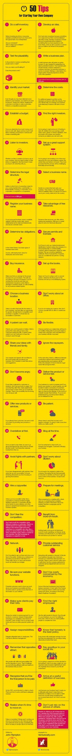50 Things to Do When Starting a Business - #enterpreneur #startups