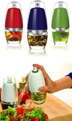 50 Useful Kitchen Gadgets You Didn't Know Existed - love this oil mister you can add herbs to!!