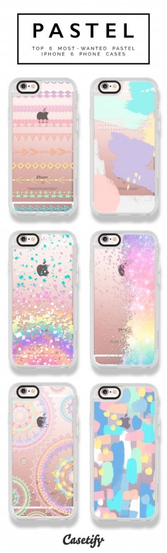 6 most wanted pastel iPhone 6 phone cases | Click through to shop >>>  #phonecase #protective #color #palette | @Casetify