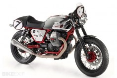 A beautiful bike, the Moto Guzzi V7 Clubman Racer.