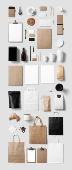 A complex coffee stationery mockup for branding and design projects.