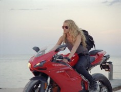 A girl and her Ducati
