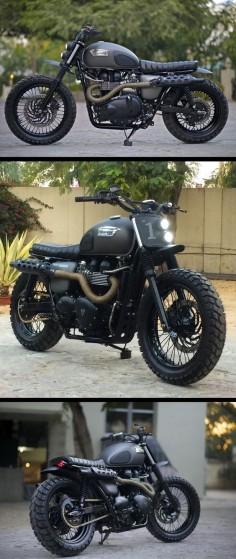 A Triumph Bonneville Scrambler built for Triumph Motorcycles India.