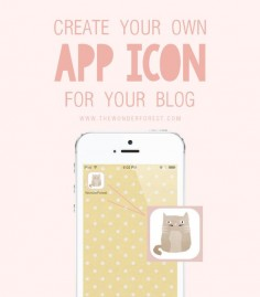 Add your blog to your iPhone app screen with a custom icon!!! #howto #blogtips