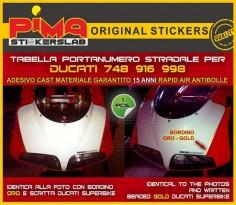 Adesivo Stickers Portanumero Ducati 748 916 998 di PIMAstickerslab