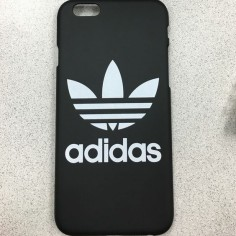 Adidas iPhone 6 case Matte black plastic black case with printed adidas logo Adidas Accessories Phone Cases