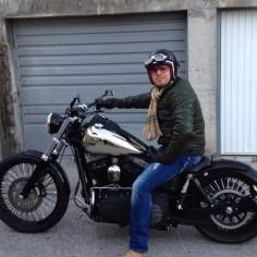 Alamel's Harley Davidson Street Bob fitted with the extended length Voodoo Fender.   Rocket Bobs