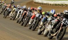 AMA Flat Track Motorcycle Racing.