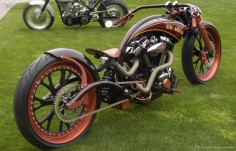 Another Picture of The 'Er Hed' XV17 Metric Custom Motorcycle by AFT Customs in Martell, California (1700cc Yamaha Metric Custom Drag Bike)