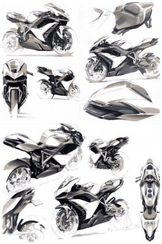 Anthony Collard Motorbike Sketches