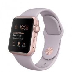 Apple Watch Sport - 38mm Rose Gold Aluminum Case with Lavender Sport Band - Apple