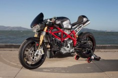 "As a Cafe Racer Fan, you have got to love this story on a Ducati 749 Cafe Racer called ""Scarlett"""