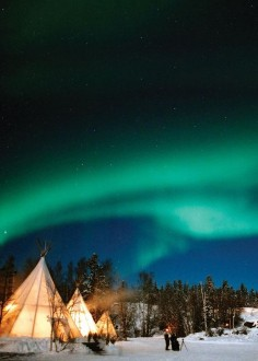 Aurora Borealis (Northern Lights) in Canada