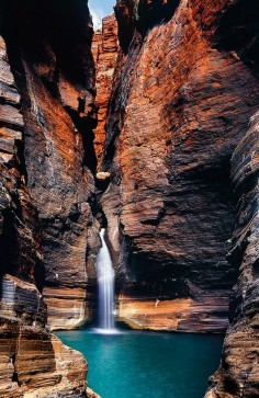 Australia's most exclusive waterhole in Karijini National Park