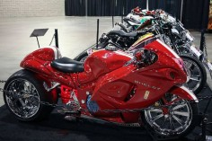 Awesome Custom Shelby Cobra Hayabusa, Suzuki Hayabusa GSX1300R, red / white ,  #hayabusa #pashnit