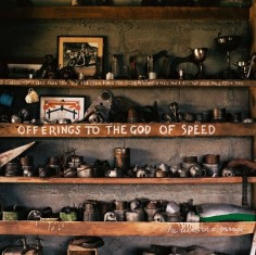 to the 'God of Speed' from Burt Munro's shop/home