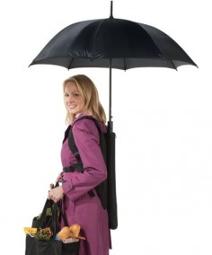 Backpack umbrella
