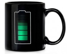 Battery Mug tells you how hot your coffee is