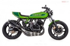 Beautiful Kawasaki classic-green cafe racer