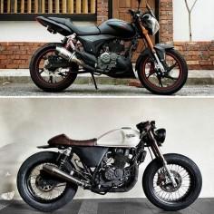 Befor & After from Malaysia Model: Benelli Keeway RKV 200 Tires: Zeus Vintage 1960s Thank DavidLow 71 #zeus #zeuscustom #zeusvintage1960s #thailand #bangkok #motorcycles #malaysiafriends #malaysia #keeway #rkv200 #vintage #caferacer #brat