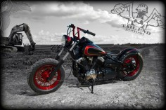 bikerMetric | custom honda yamaha metric bobbers, choppers, cafe racers: yamaha v-star bobbers