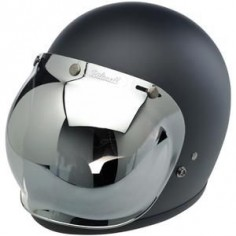 Biltwell Gringo helmet with chrome bubble shield
