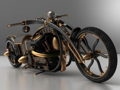 Black Widow steampunk chopper to scorch the road in style | Designbuzz : Design ideas and  I knew how to ride I would want it. Kitty