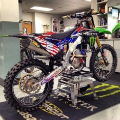 Blake Baggett's 2012 Monster Energy Motocross of Nations Pro Circuit Kawasaki!