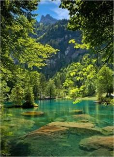Blausee, Kandersteg, Schweiz