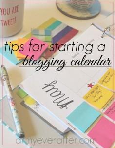 Blogging Tips for Starting a Blogging Calendar