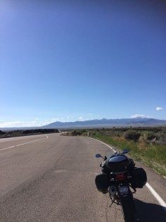 BMW F800 GT on US 60 in New Mexico