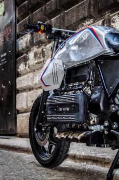"Bmw K100 Street Tracker ""SILVER GILLS"" by Shaka Garage #motorcycles #streettracker #motos |"