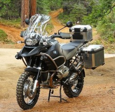 BMW R1200 GS Adventure bike.
