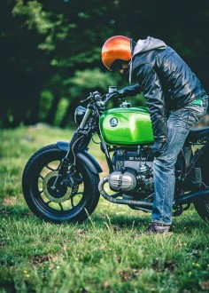 BMW R65 Green Hulk | BMW | BMW Motocycles | motorcycle | Bimmer | BMW bike | Schomp BMW