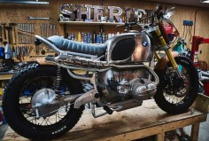 BMW R90 Scrambler Wood Style by Garage Sheriff