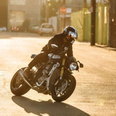 BMW S1000R cafe racer built for Orlando Bloom by Deus Customs,