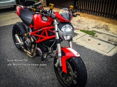 BMW Society /  Ducati Monster 796 with TRR's Full Titanium Exhaust .