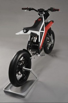BMW unveils concept Husqvarna Concept E-go electric motorcycle - mono front fork with single swingarm rear //