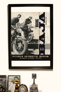 Braving Baja Motorcycle Poster