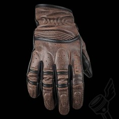 Brown Speed & Strength Rust And Redemption Leather Gloves.