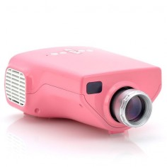 "Budget Video Projector ""MiniView"" -  Million Colors, 200:1 Contrast, Coaxial TV Input (Pink)"