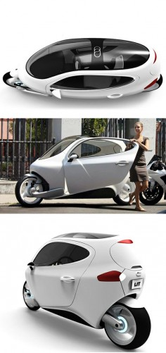 "C-1 ""Rolling Smartphone"" Electric Vehicle Concept"