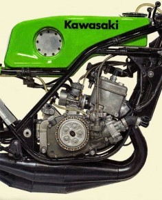 Cafe racer. Kawasaki